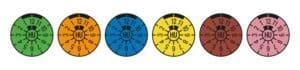 TÜV Plaketten alle Farben Hauptuntersuchung HU Abgasuntersuchung AU